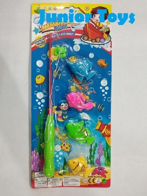 Mainan Pancingan Magnet Ikan 4 pcs
