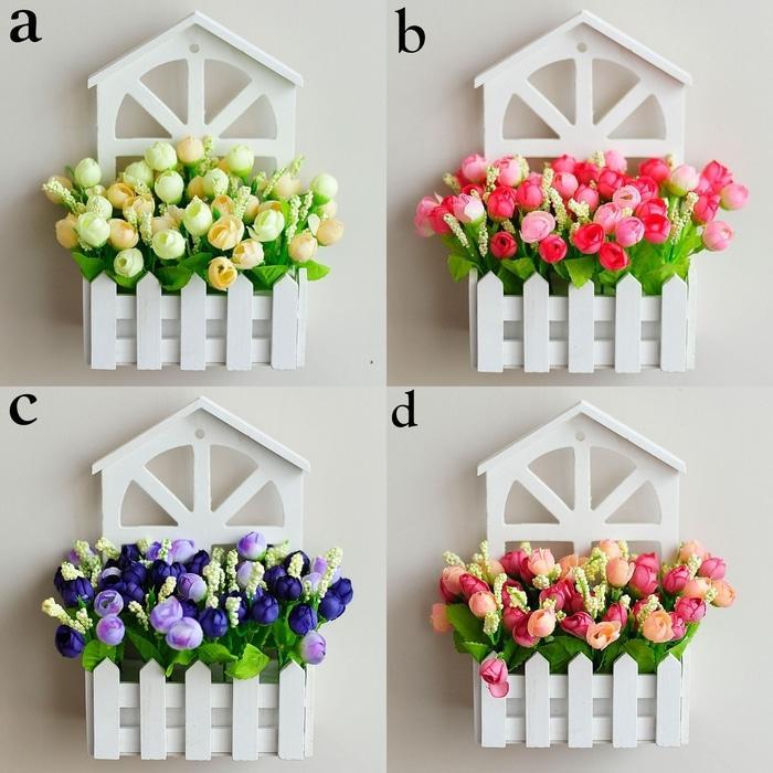 Hanging Fence Wood Flower - Bunga Hias Gantung - WAwnpH