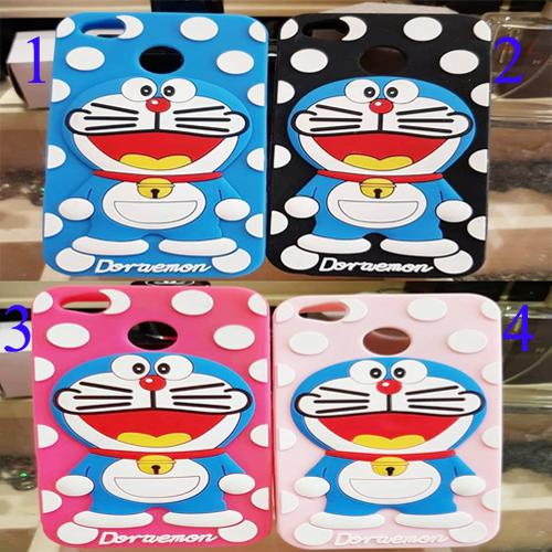 Case 4D Timbul For XIAOMI REDMI NOTE 5A Karakter Doraemon Polkadot - ABS