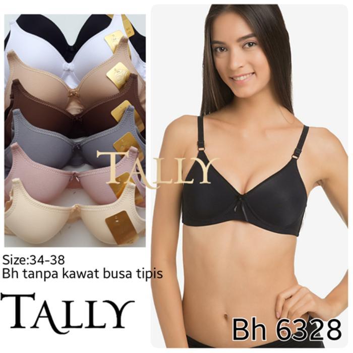 Original BRA BH Tanpa Kawat Busa Tipis Nyaman Banget TALLY 6328 Termurah