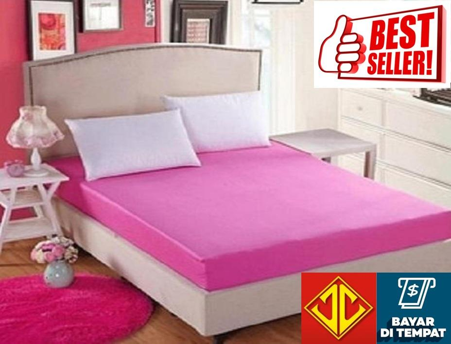 Sprei Jaxine Waterproof Anti Air Ompol (sprei only) - Pink