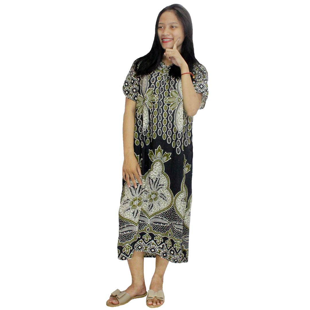 Daster Batik Print Dpt001 17d Daftar Harga Terlengkap Indonesia Cap Rdt001 18 Lengan Pendek Baju Tidur Piyama Kancing Bumil