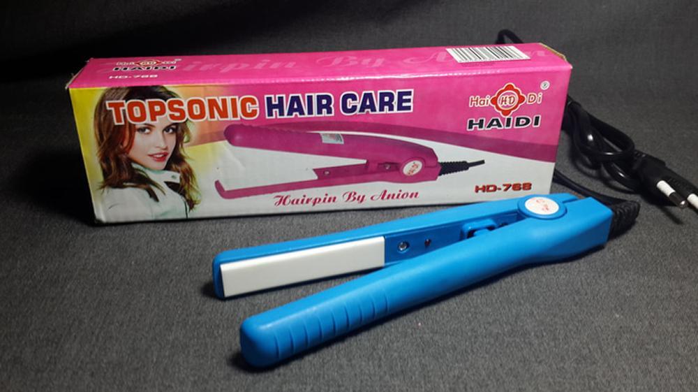 Beautylover Haidi Catok Pelurus Pengeriting Rambut Asli Mini Curly Hair Wanita Catokan Portable Kecil Praktis Ringan Mudah diaplikasikan Poni Pendek Multicolor