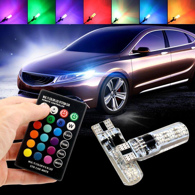 LED Lampu Senja 12V T10 16 Warna + Remote Motor dan Mobil