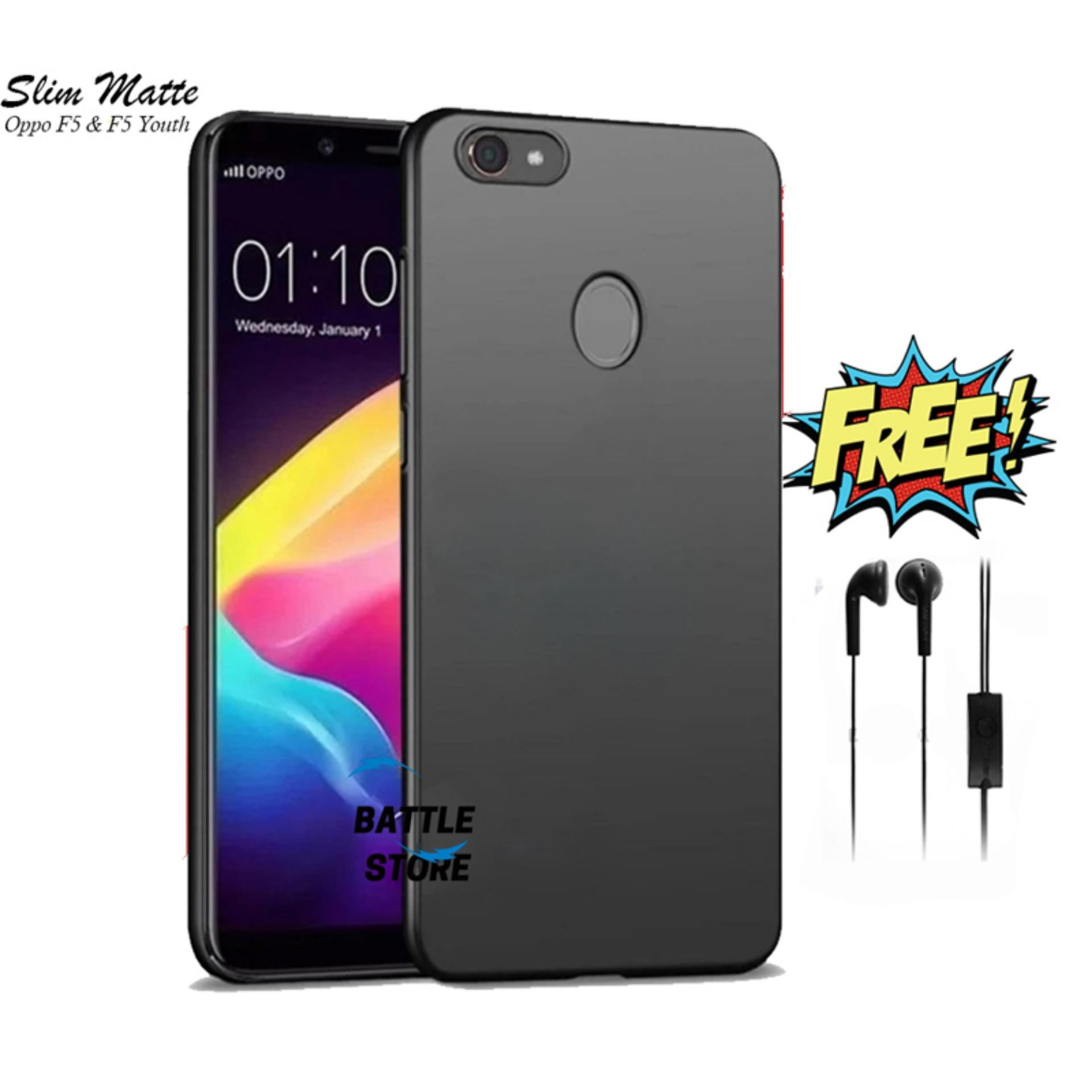 Case Slim Black Matte Oppo F5 F5 Youth Baby Skin Softcase Ultra Thin Jelly Silikon