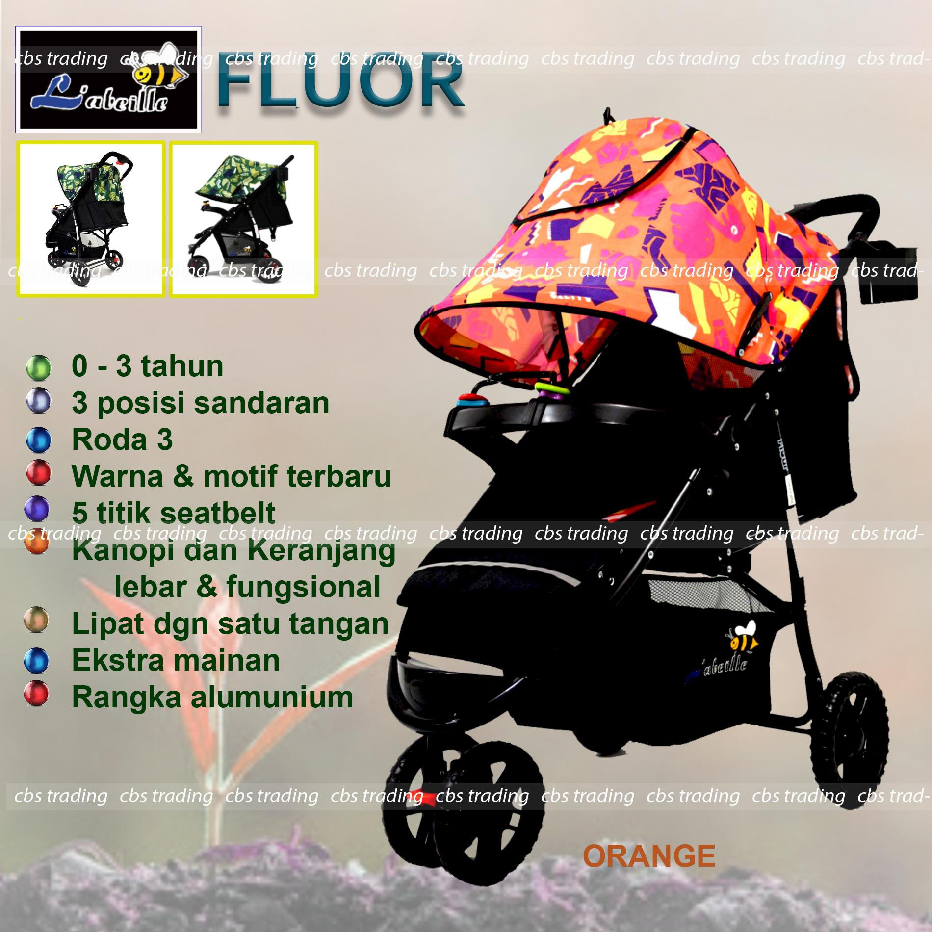 Fitur Pliko Creative Classic Baby Stroller Bs 218 Lightweight Kereta Clasic Labeille Fluor A503 Dorong Bayi Orange