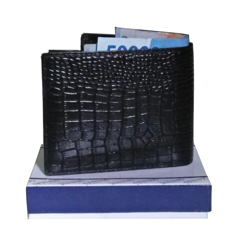 AchmadStore,AchmadStore Dompet Pria 3 In 1/Dompet Kulit/Dompet Murah/Dompet Kulit Pria Kombinasi Kulit Buaya