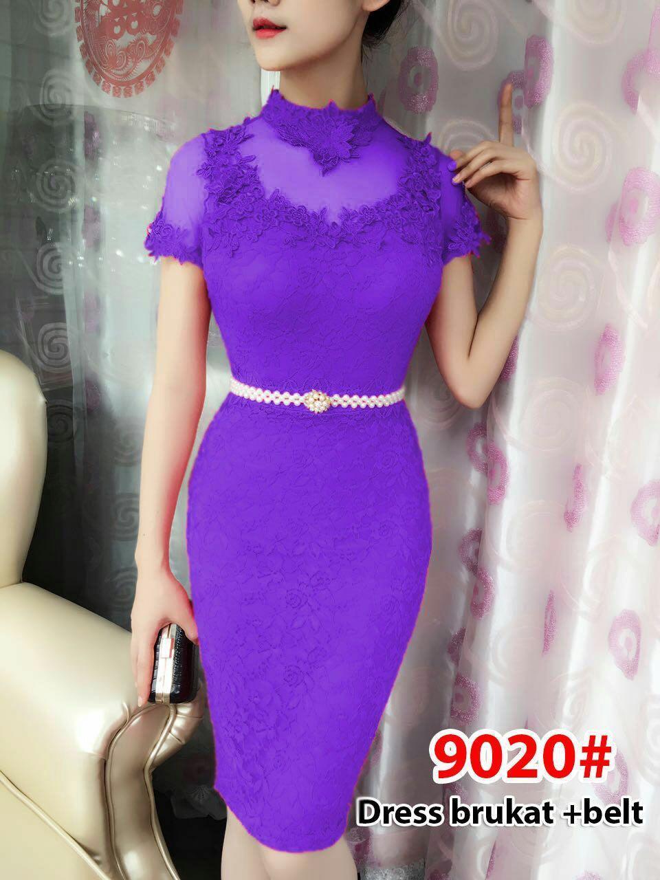 9020#baju pesta import  / gaun pesta import / baju congsam / cheongsam brokat / dress fashion import