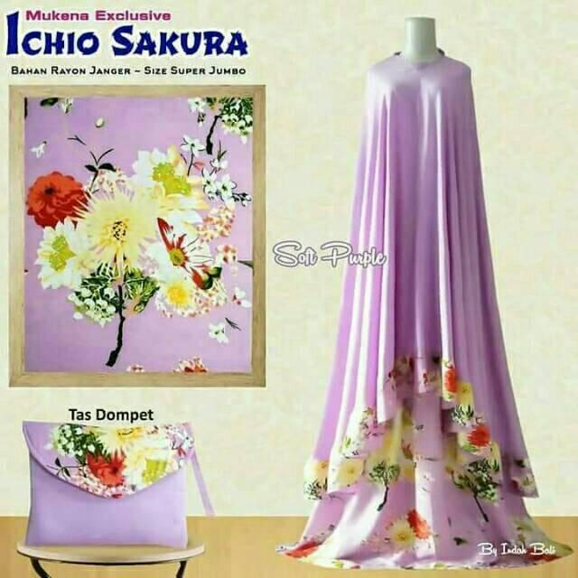 PROMO MUKENAH ICHIO SAKURA EXCLUSIVE soft purple