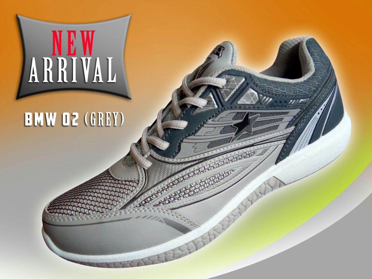 Amelia Olshop - Pro ATT Sepatu Sneaker Pria / Sepatu Pria / Sepatu Olahraga / Sepatu Sport / Sepatu Murah / Sepatu High Quality New Arrival - BMW 02 Abu-abu