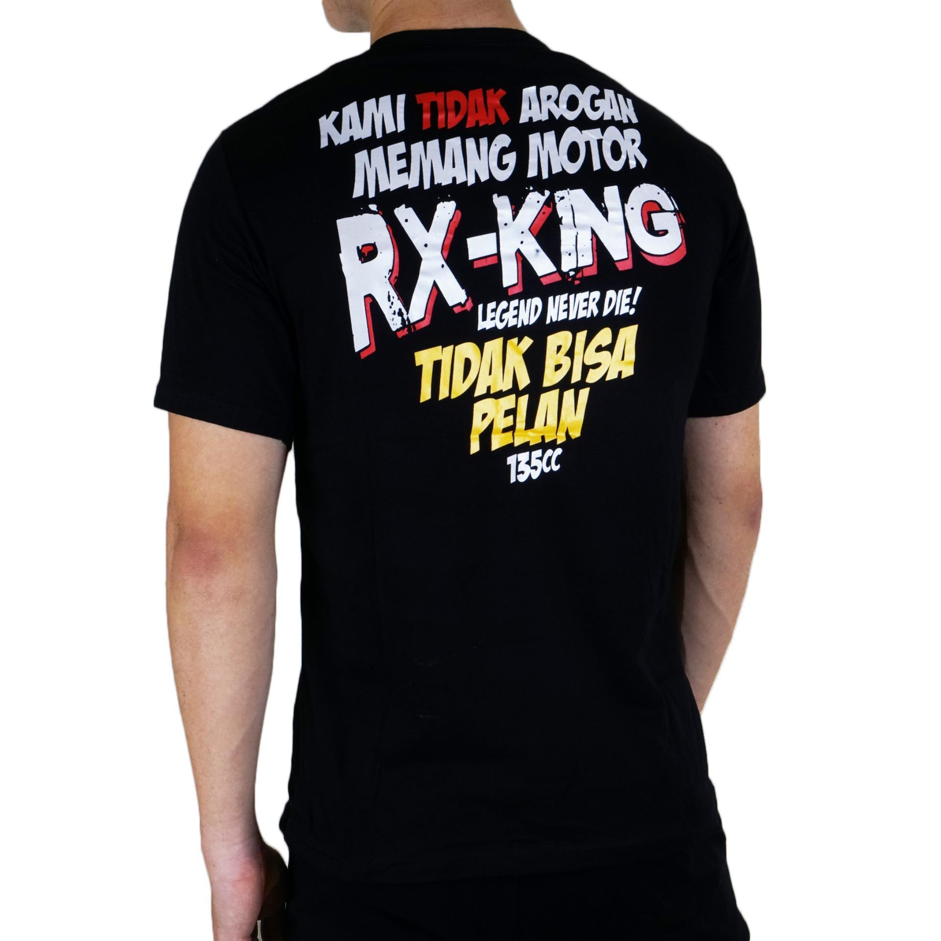 Detail Gambar Vanwin - Kaos T-Shirt Distro / kaos Pria / Tshirt Pria / Distro Pria / Baju Pria Premium Racing RX KING Font - Hitam Terbaru