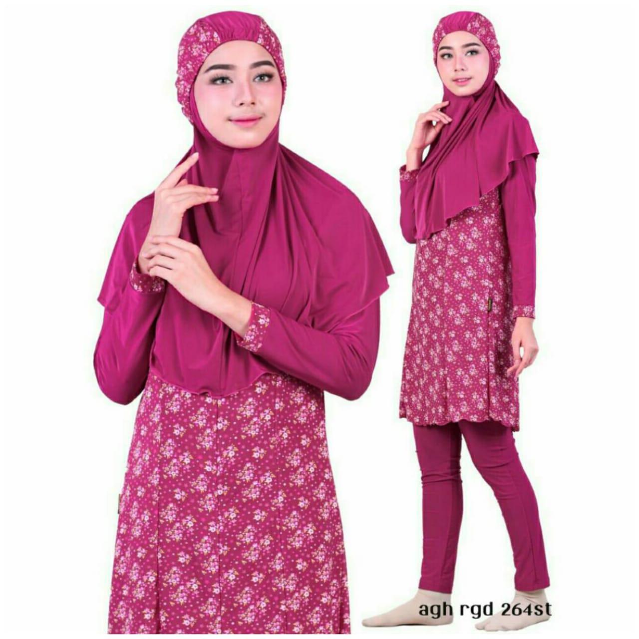 Aghnisan Baju Renang Muslimah - Pink Fanta