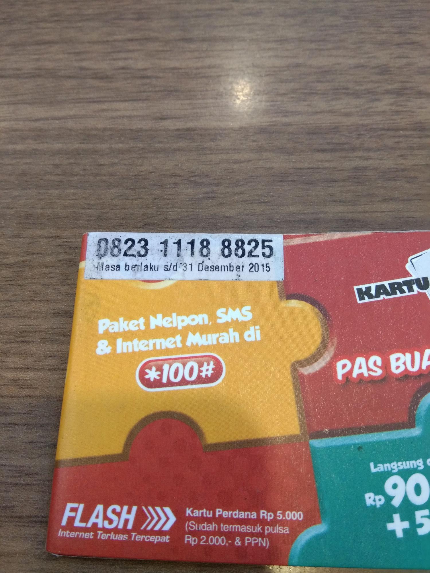 NoCan 0823 111 888 25 Nomor Cantik AS 3G