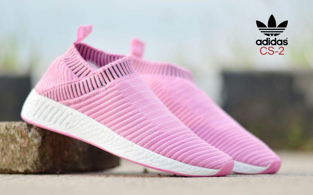 Sepatu wanita sneakers olahraga adidas cs-2 slip on casual jogging sekolah formal santai