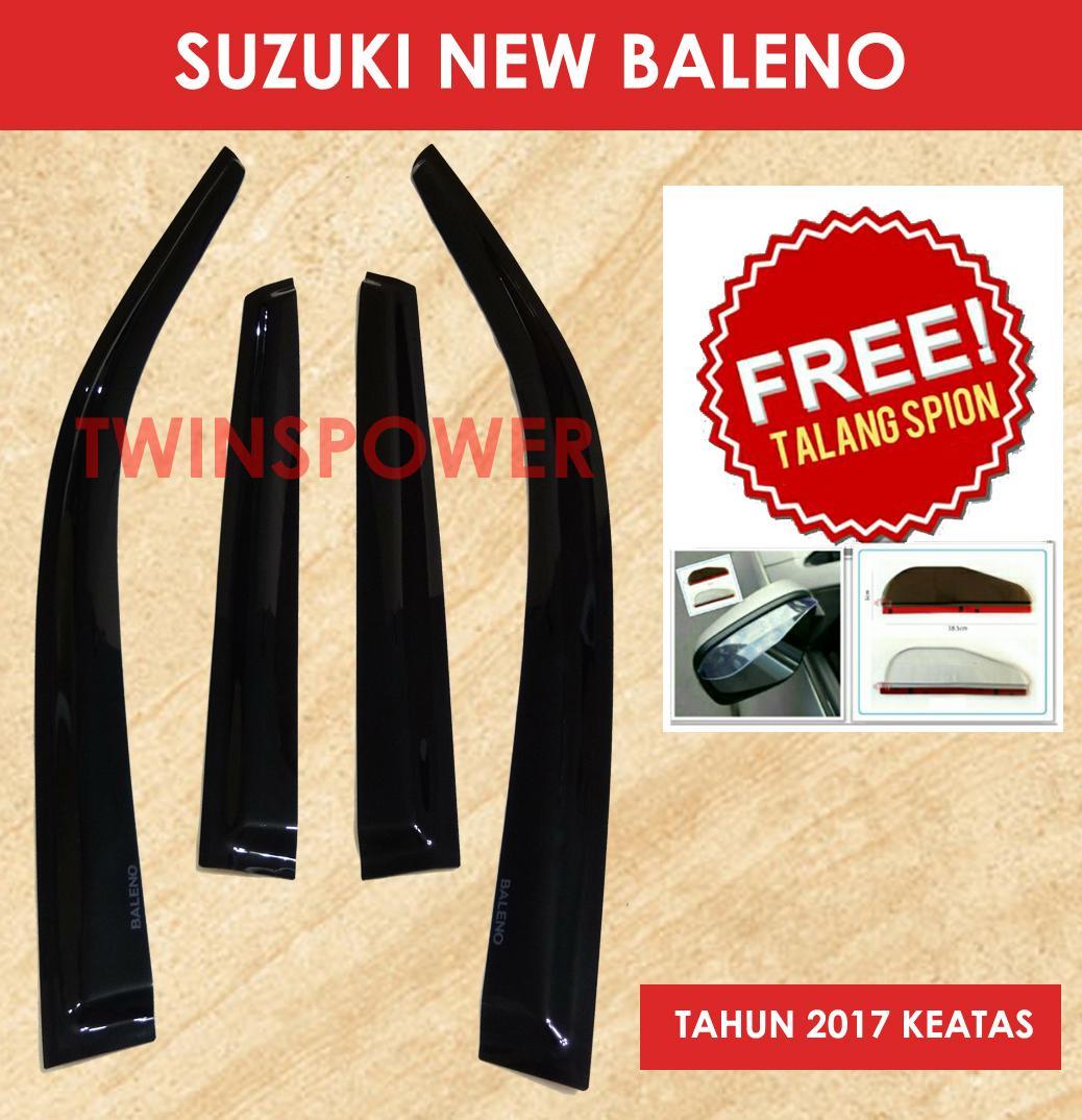 Talang Air Mobil Suzuki New Baleno + FREE Talang spion