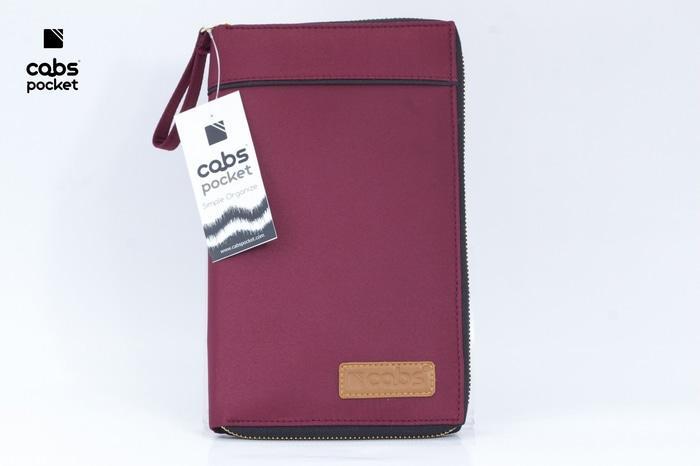 Cabs Pocket Slim - Dompet Wanita & Pria HPO Organizer Unik Cantik Dompet Kartu Branded Serbaguna Dompet Lokal Cewek Cowok Wallet Card Holder Multifungsi - Maroon