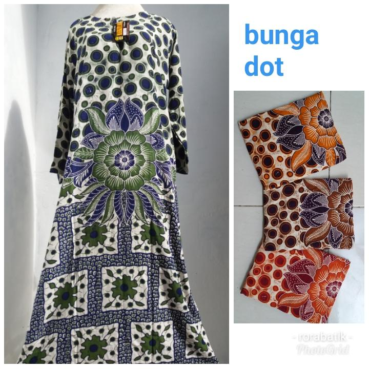 Rora batik - daster gamis base : XL