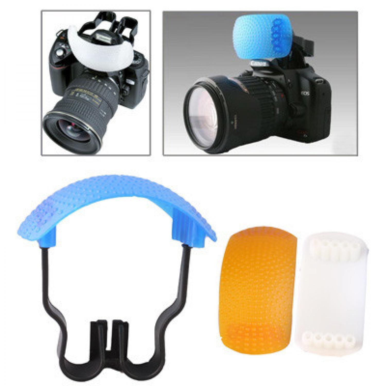 Flash kamera/Flash kamera canon Flash Diffuser Pop-up (White / Blue / Orange / Bracket)
