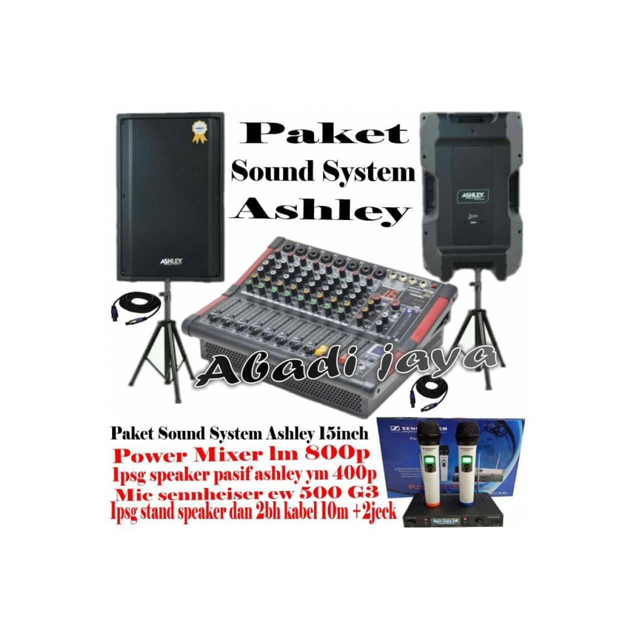 Murah Sound System Power Mixer Lm 800p Dan Ashley Ym 400p Sound System