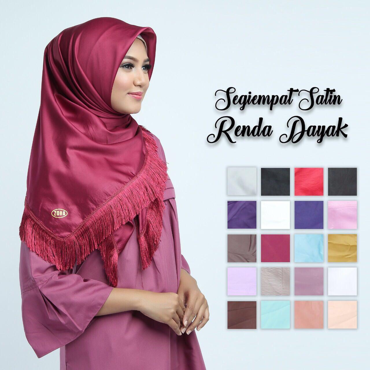 Hijab rumbai dayak