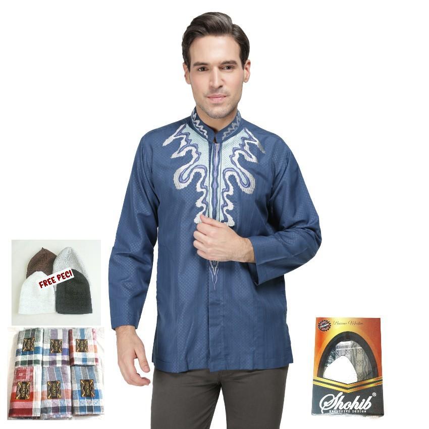 Carvil Adam Aw Baju Koko Pria Putih Daftar Harga Terkini dan Source · SHOHIB BAJU KOKO