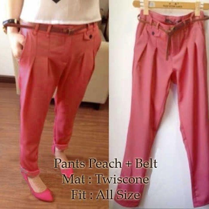 Promo [pants Peach Sw] Celana Wanita Twiscone Salem Pqinta