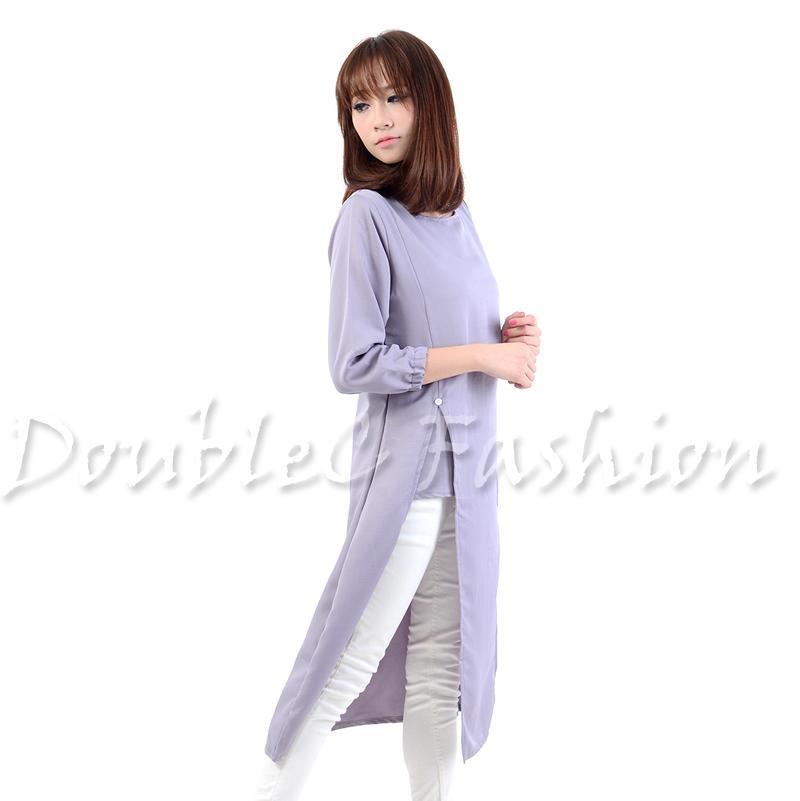 Detail produk dari DoubleC Fashion Tunik Pevita Grey