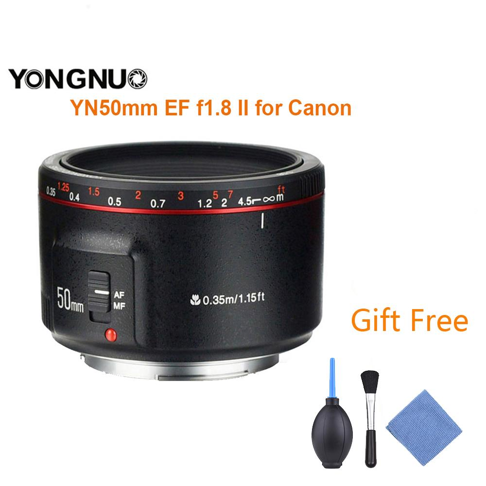 YONGNUO YN50mm F1.8 II Large Aperture Auto Focus Lens for Cannon Bokeh Effect Camera Lens for Canon EOS 70D 5D2 5D3 600D DSLR