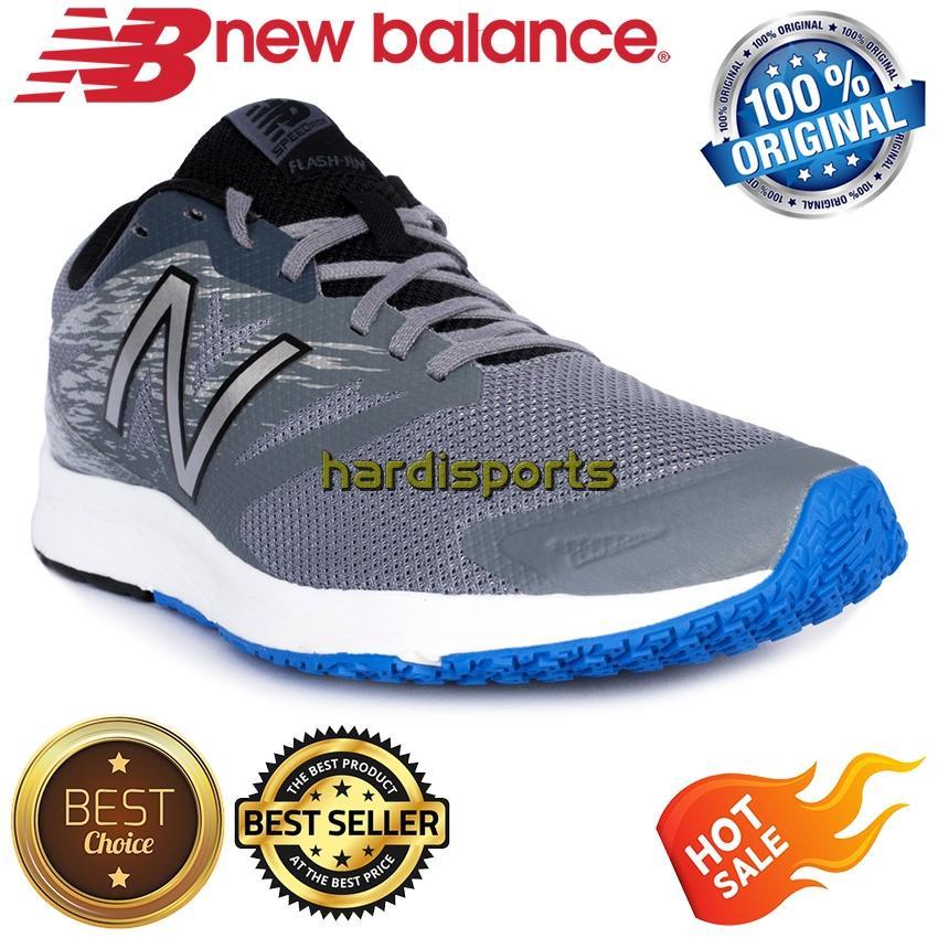 Sepatu Running Pria New Balance Flash RN Speed Ride MFLSHLG1 - Grey