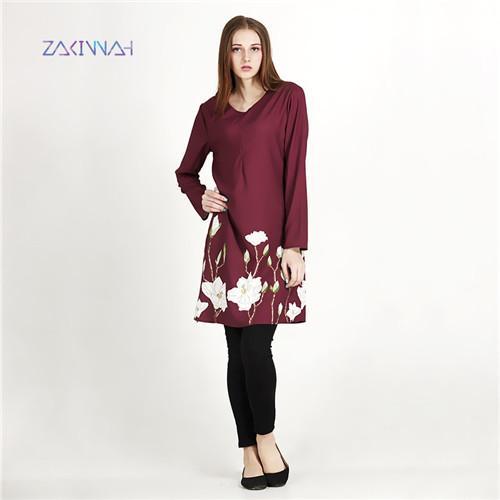 New Muslim  print Ladies Clothing Women  Malaysia Abaya Casual Women Dress (No pockets and scarve )