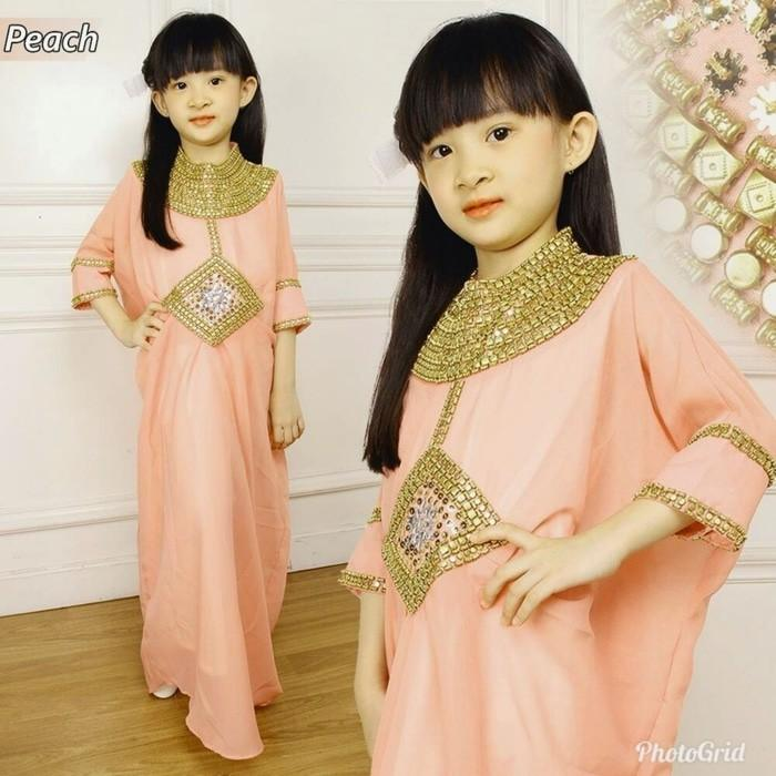 Promo Sale KR- Kaftan Cleo Kid Peach Tua Termurah