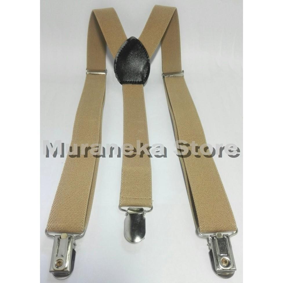 Bretel Suspender Krem Baju Dewasa Polos Tali Kodok Jojon Jeans Denim Tali Jojon Murah Pria Dasi Kupu