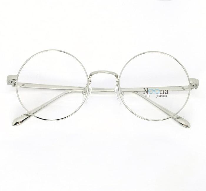 Frame Kacamata Korea Minus Pria Wanita Bulat N003 SV Full Silver