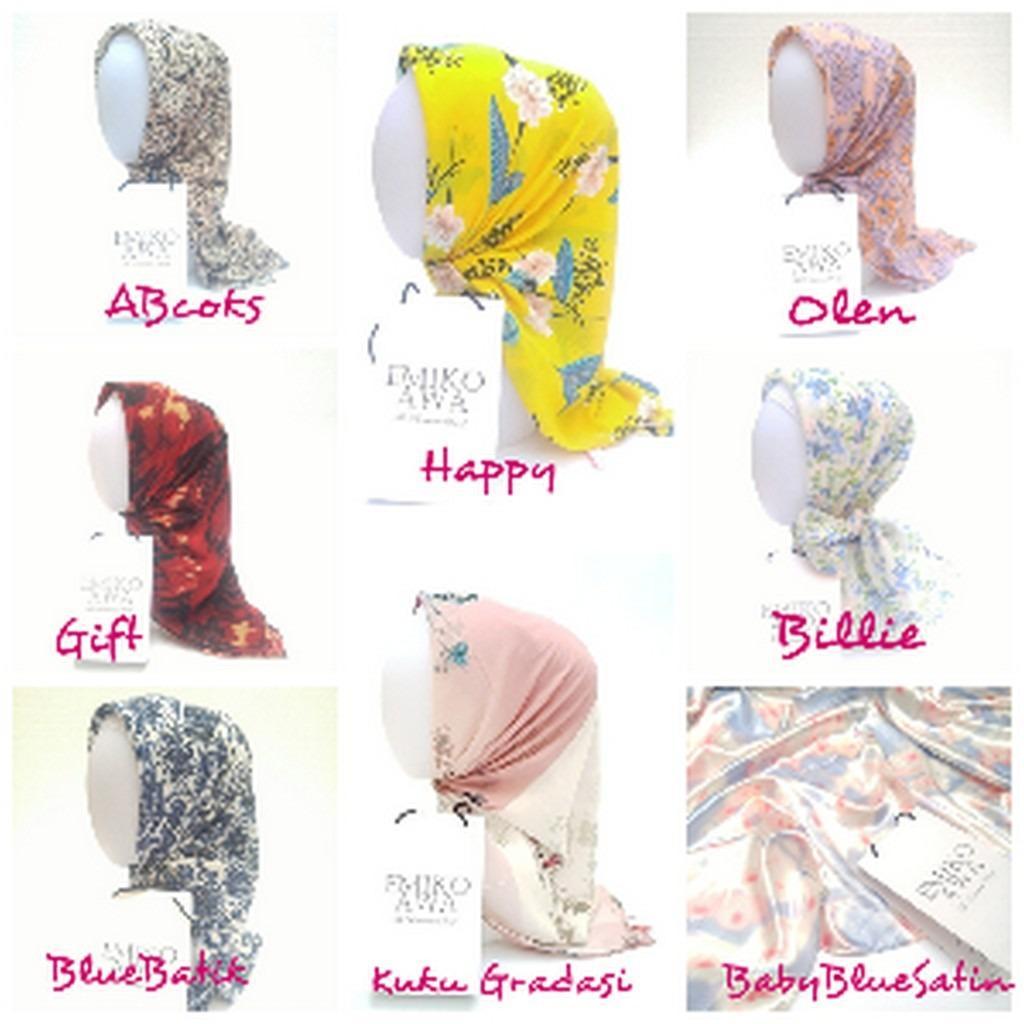 Kerudung segiempat MOTIF 5 / Hijab / Jilbab / Square / souvenir PROMO MURAH !