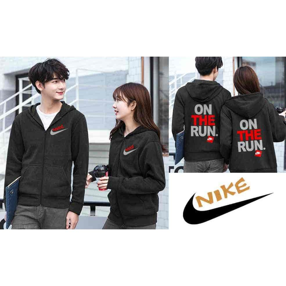 PROMO !! [Couple Jaket Nike 05 Hitam LO] Couple Jaket Nike Babyterry Hitam