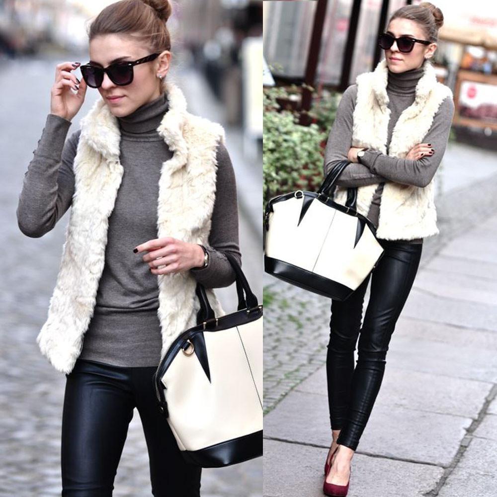 3dd7a549e3b10 Women Faux Fur Ladies Sleeveless Vest Waistcoat Jacket Gilet Shrug Coat  Outwear