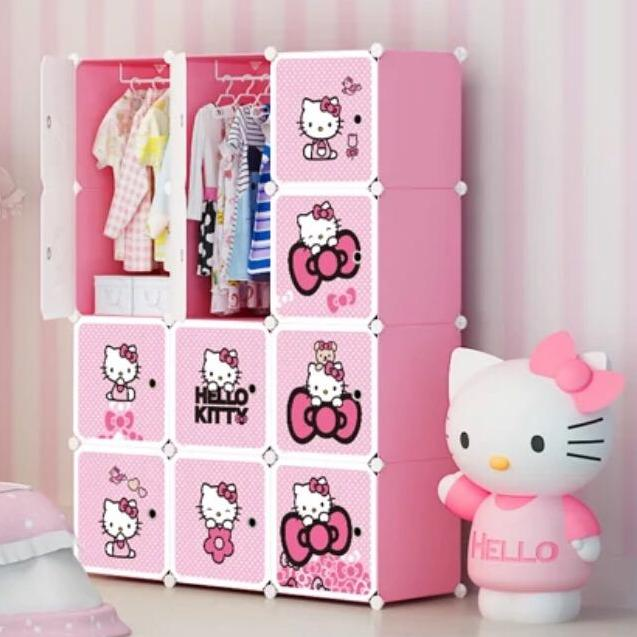 Lemari Plastik 12 pintu Hello Kitty