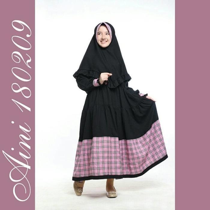 Baju Muslim Anak Perempuan Balita TK SD, Gamis Casual Anak Aini 180209