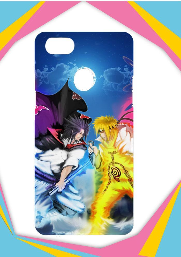 Casing OPPO F7 Custom Hardcase sasuke uchiha vs naruto paintingart Z0685 Case Cover