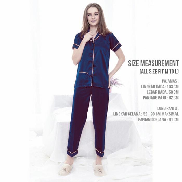 Baju Tidur Piyama Satin Lembut Celana Panjang