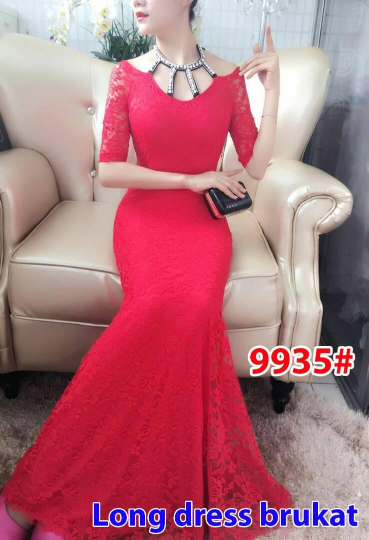 9935# baju pesta panjang / gaun pesta brokat / gaun import / longdress import / longdress pesta