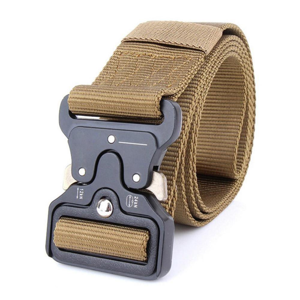 Harga Baru Adjustable Pria Sabuk Militer Gesper Ikat Pinggang Model Tactical Series Kepala Kotak Jenis