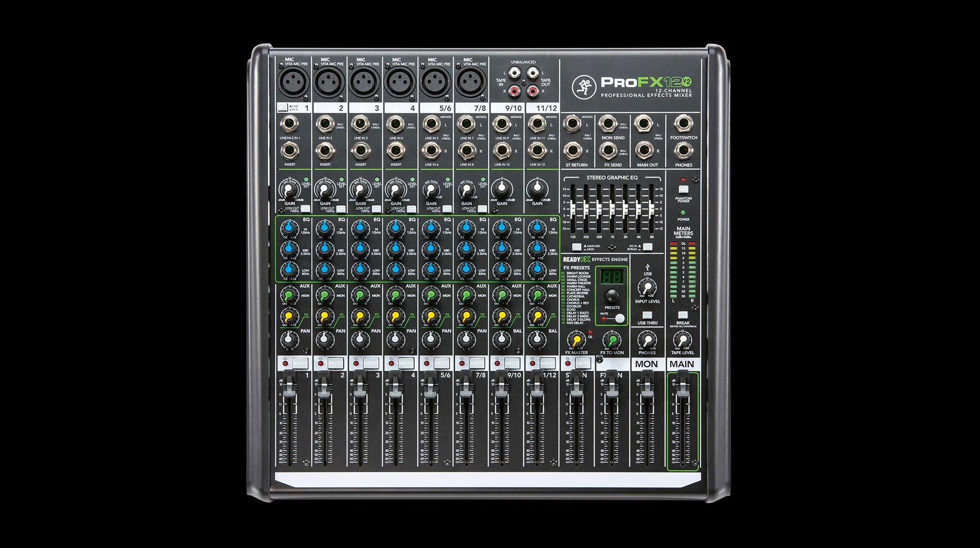 Mixer mackie ProFX 12 V2 original