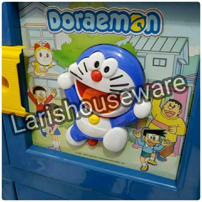 Lemari Plastik Lemari Pakaian Doraemon 3D Susun4 Ready Stock