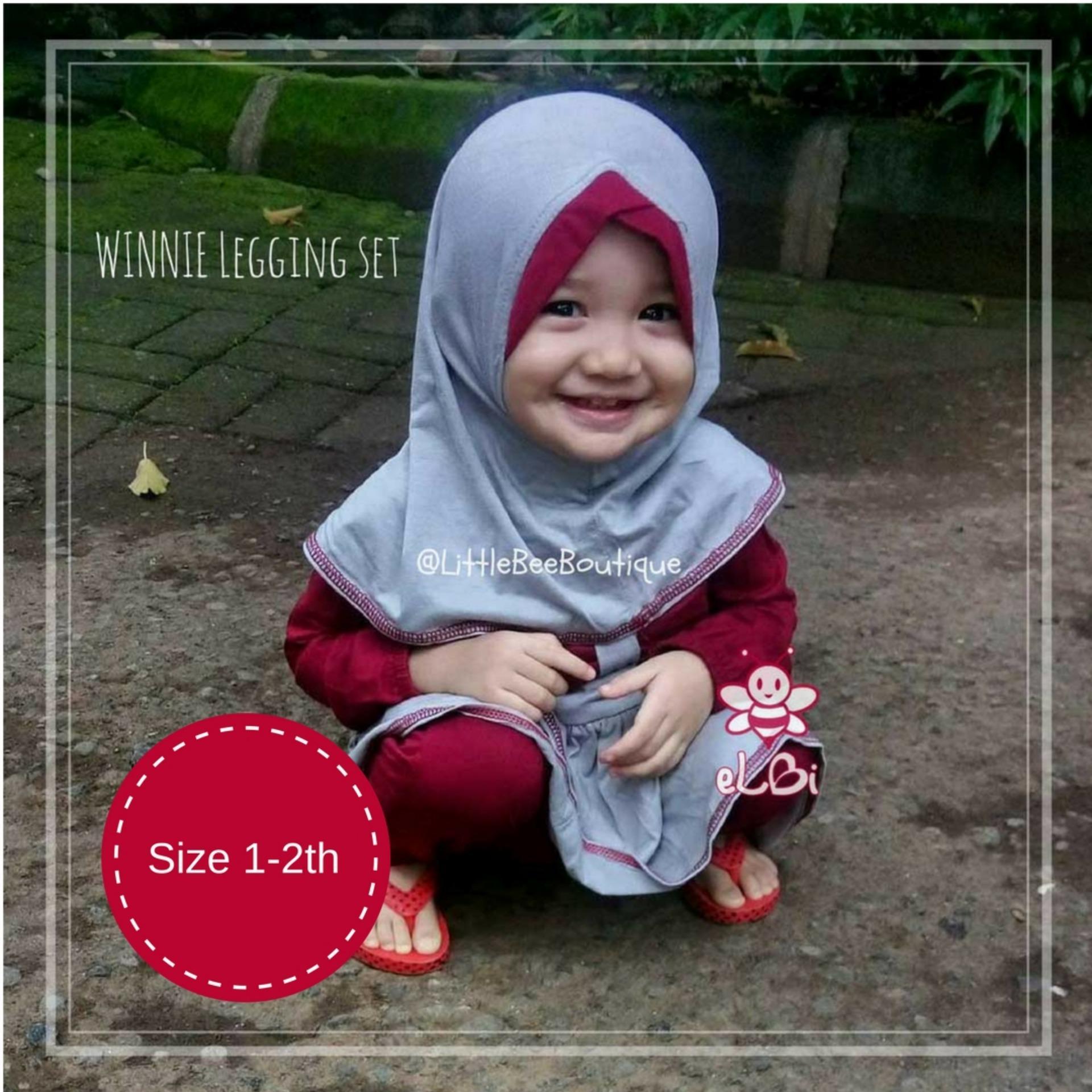 eLBi Winnie Legging Set Baju Muslim Anak Balita Pakaian Muslimah Bayi Baju Bayi