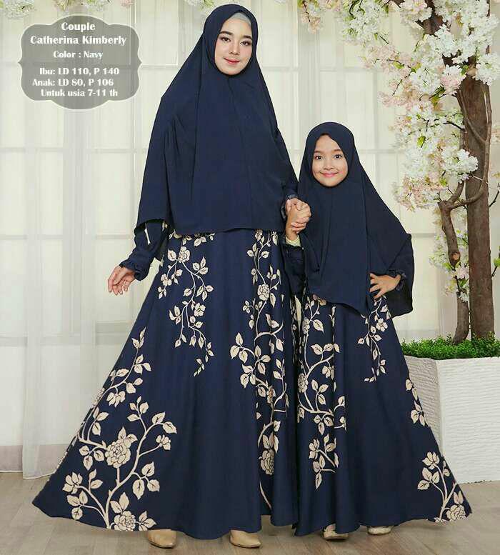 Silentriver88 gamis muslim syar'i catherrina kimberly/farah ibu dan anak coupel