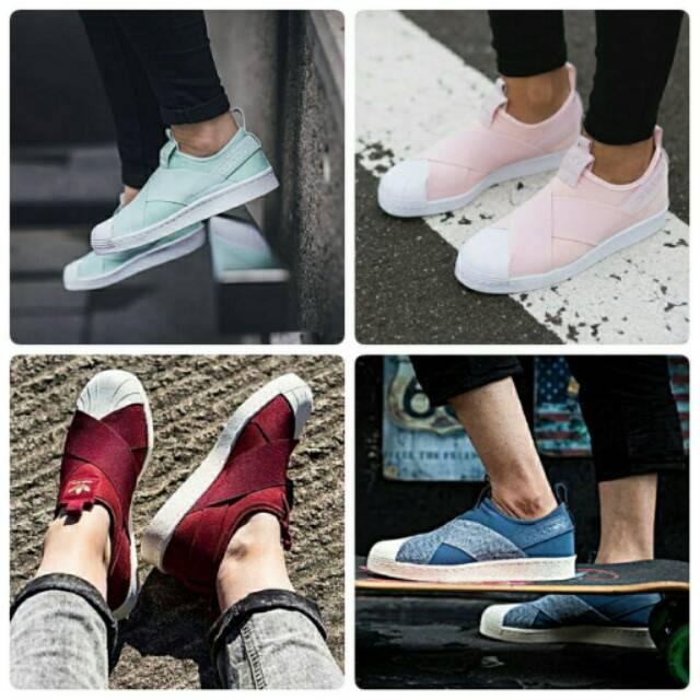 Sepatu Premium , Adidas Superstar Slip On , Sepatu Sneakers , Sepatu Original , Sepatu Ori