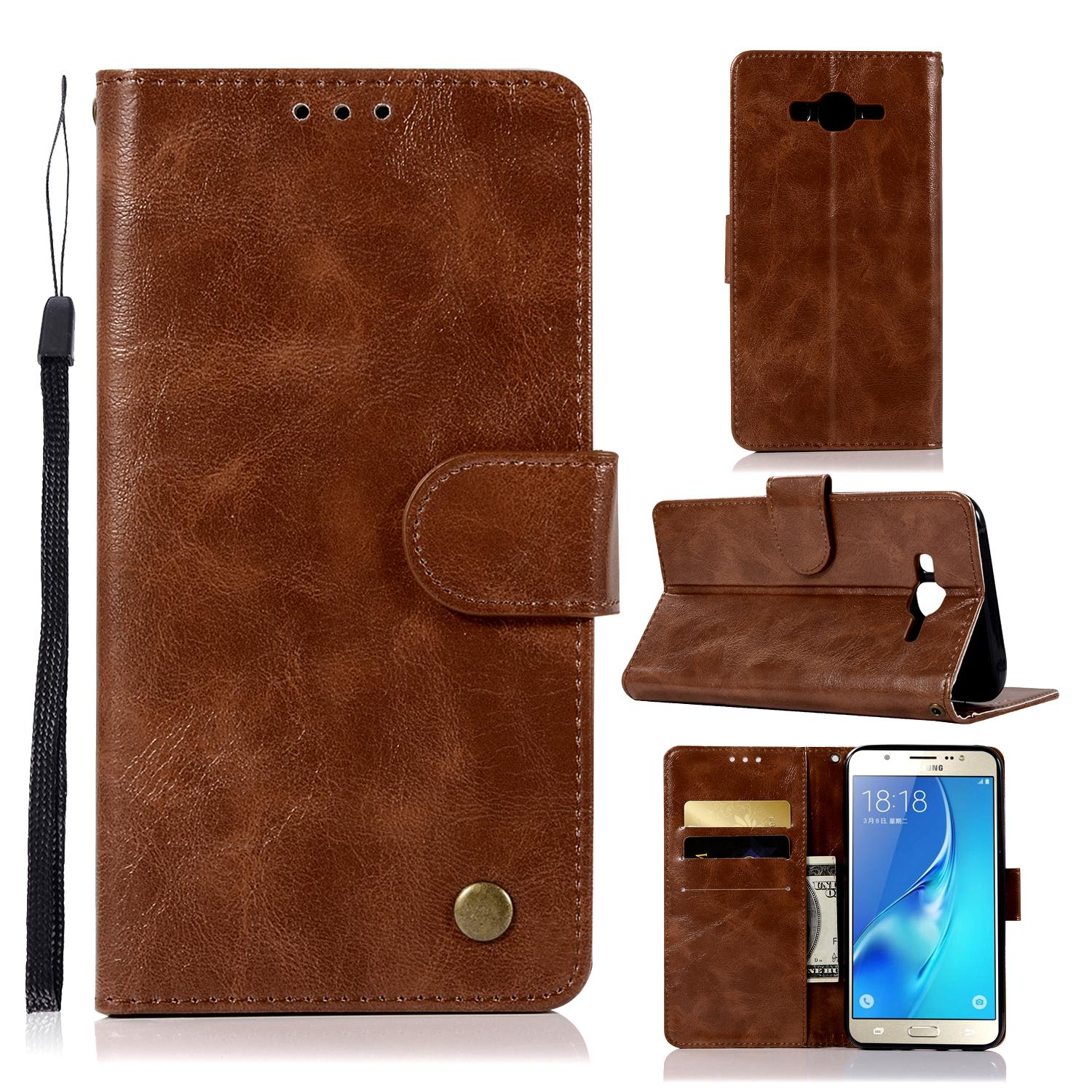 Casing For Samsung Galaxy J5 / J500,reto Leather Wallet Case Magnetic Double Card Holder Flip Cover By Life Goes On.
