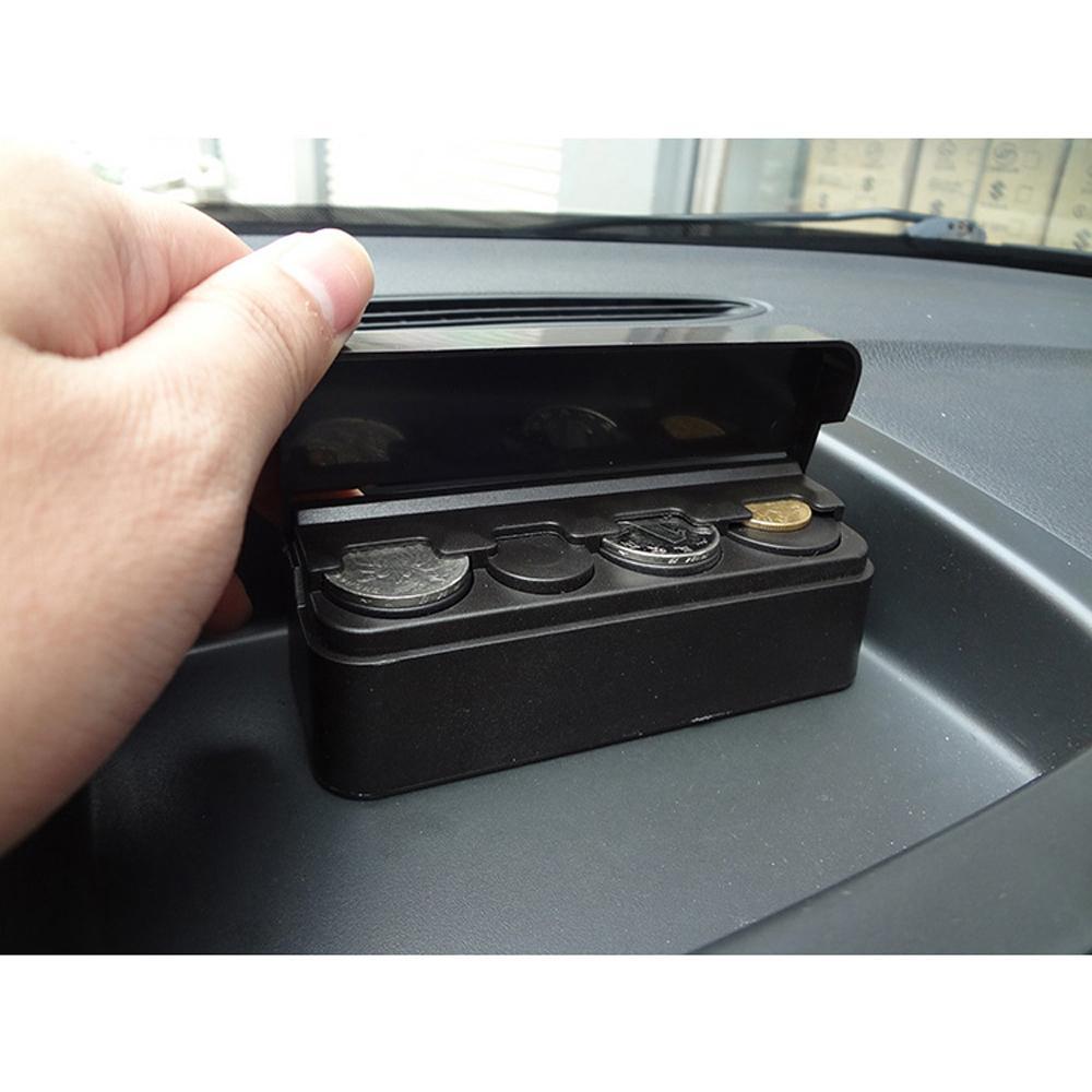Kotak Uang Koin Receh Mobil - Blac - 4 .
