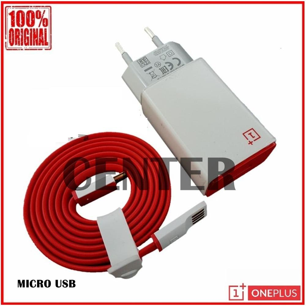 OnePlus Travel Charger Original 2A Cable Micro USB Non Pack - Putih